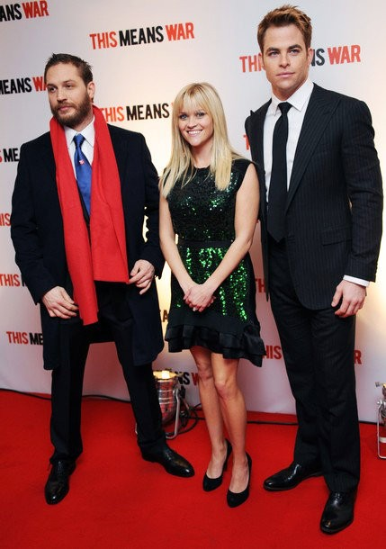 Reese Witherspoon, Chris Pine and Tom Hardy Dazzling at 'This Means War' U.K. Premiere