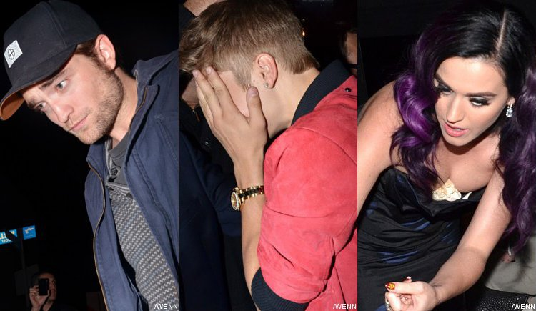 Robert Pattinson Clubbing With Justin Bieber and Katy Perry