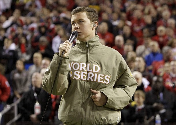 Video: Scotty McCreery Suffers Mic Malfunction at World Series Game 1