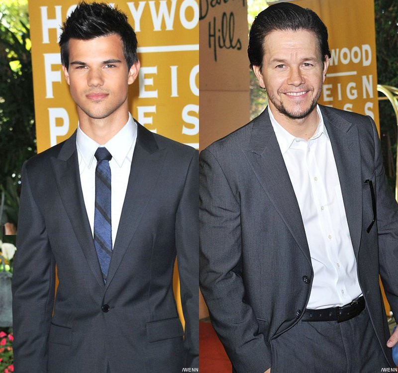 Taylor Lautner Finds It Surreal Being Saluted by Mark Wahlberg