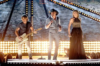 Video: Taylor Swift, Tim McGraw and Keith Urban Perform at 2013 ACM Awards