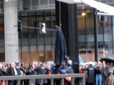Photo: Batman Gets Hung in New Dark Knight Set Image!