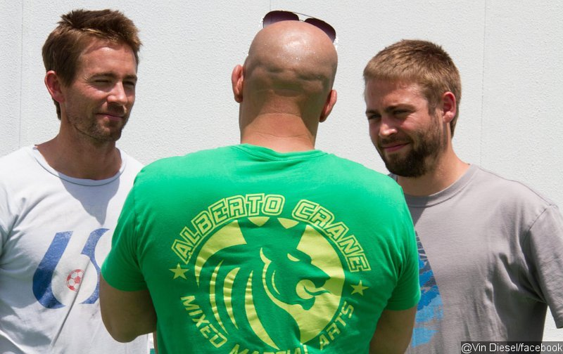 Vin Diesel Shares Picture of Paul Walker's Brothers on 'Fast and Furious 7' Set