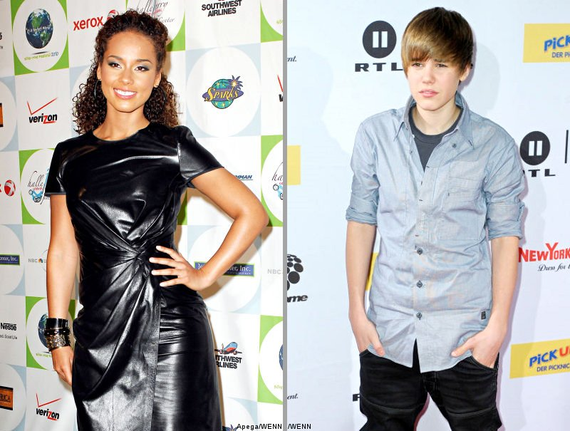 Alicia Keys and Justin Bieber Participate in Kennedy Auction