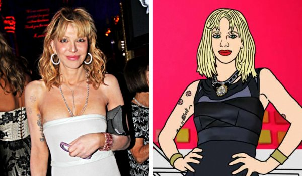 Video: Courtney Love Turned Into Cartoon in 'The Dark Night of the Soul'