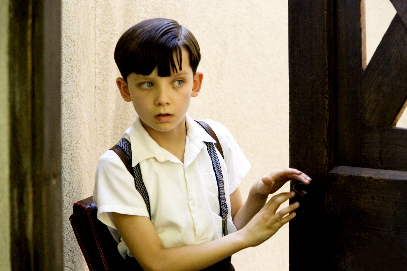 the boy in the striped pajamas pictures and stills asa butterfield stars as bruno in miramax films the boy in the striped pajamas
