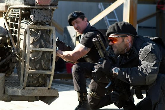 Sylvester Stallone Blows Up a Flying Helicopter in New 'Expendables 2' Clip