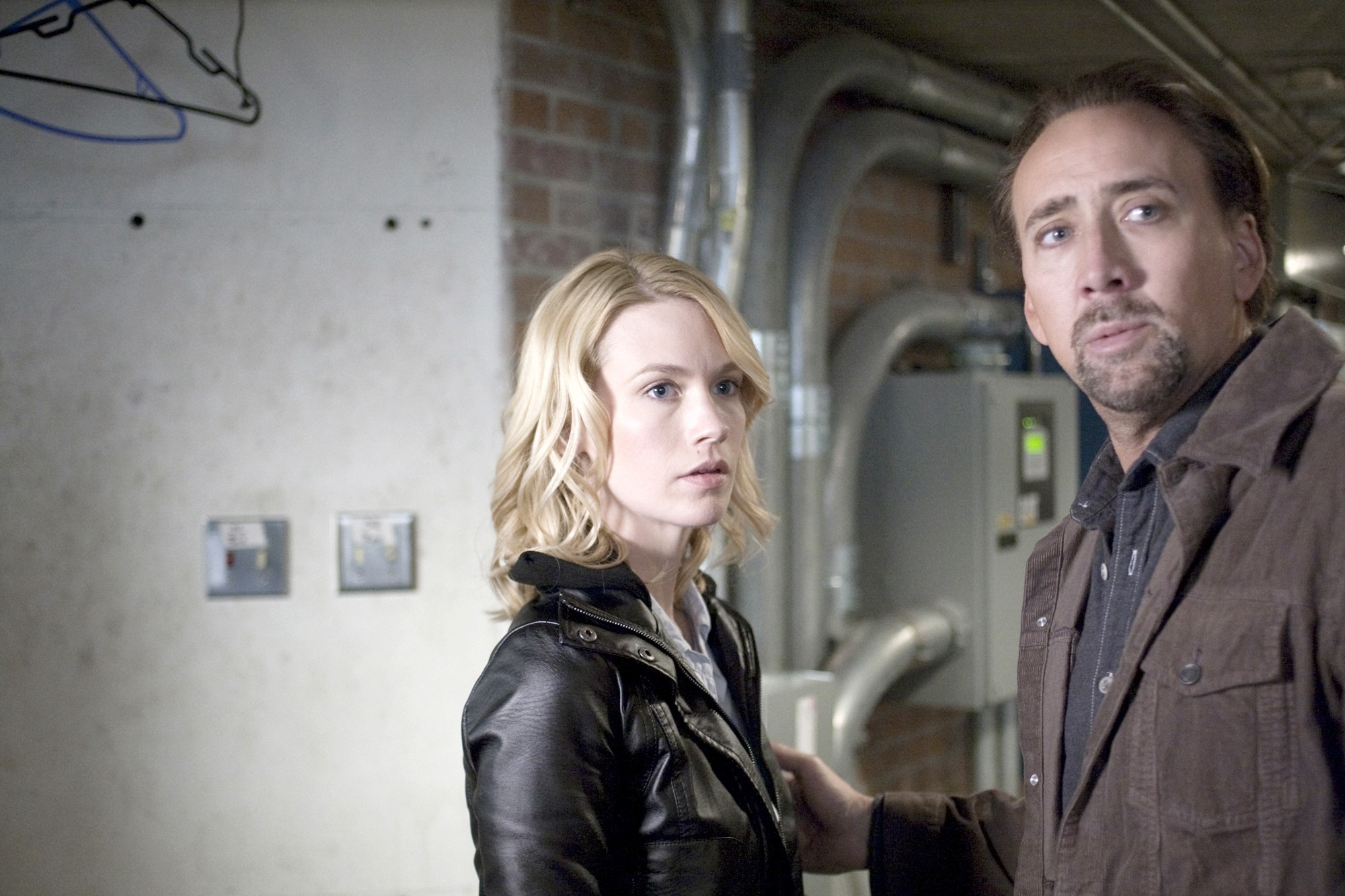 Nicolas Cage Finds Chemistry in January Jones