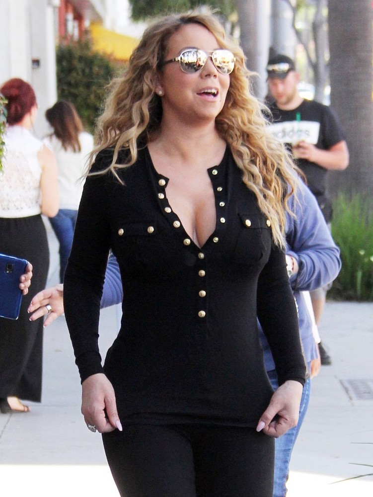 Mariah Carey Goes Shopping at Tom's Toys with Her Twins