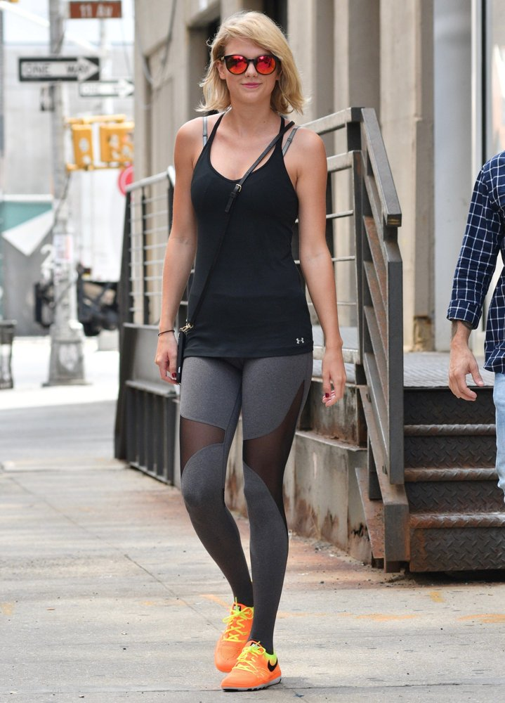 Taylor Swift Leaving Her Gym